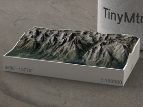 Grand Tetons, Wyoming, USA, 1:150000 Explorer in Full Color Sandstone