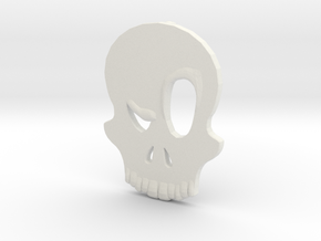 Eyebrow Skull Pendant in White Natural Versatile Plastic