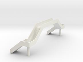 N Station Footbridge 1 in White Natural Versatile Plastic