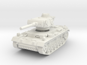 Flammpanzer III 1/120 in White Natural Versatile Plastic