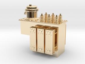Step Voltage Regulator in 14k Gold Plated Brass: 1:48 - O