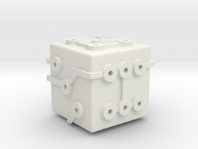 Circuit Die (Small) in White Natural Versatile Plastic