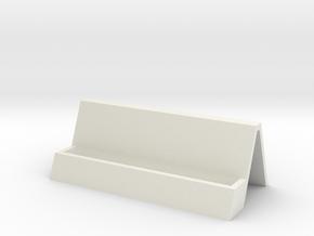 Card Holder (customizable) in White Natural Versatile Plastic