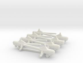 8pk Westland WS-51 DragonFly 1:700 in White Natural Versatile Plastic