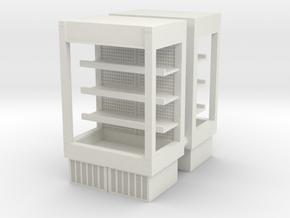 Grocery Fridge 01. 1:87 Scale (HO) in White Natural Versatile Plastic