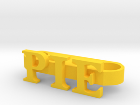 Cartman's Pie Knuckle Ring in Yellow Processed Versatile Plastic