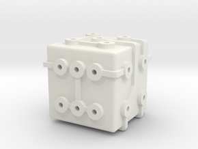 Circuit Die in White Natural Versatile Plastic