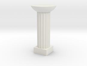 Round Stone Columns in White Natural Versatile Plastic