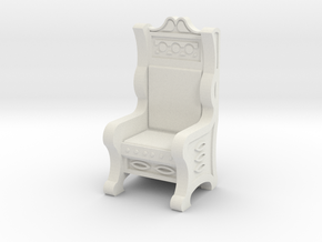 Throne in White Natural Versatile Plastic