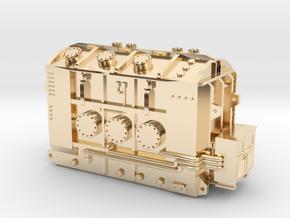 High Voltage Hamliton Transformer Base in 14k Gold Plated Brass: 1:87 - HO