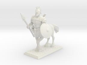 Centaur Warrior in White Natural Versatile Plastic