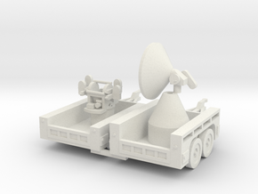 1/144 M7 trailer US army Radar and AA gun in White Natural Versatile Plastic