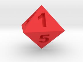 八面骰子 in Red Processed Versatile Plastic: Small