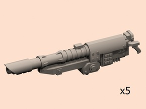 Beam antitank cannons x5 in Smooth Fine Detail Plastic