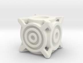 Concentric Die in White Natural Versatile Plastic
