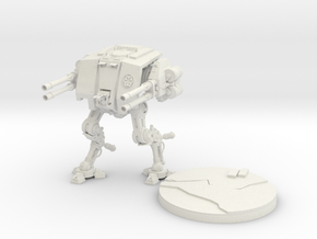 Galactic Empire AT-ST Dreadnought in White Natural Versatile Plastic