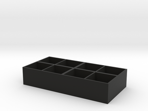 Multi-function storage box in Black Natural Versatile Plastic