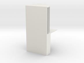 Stationery storage box in White Natural Versatile Plastic