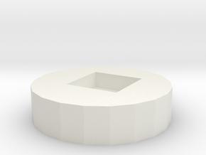 Can opener key ring in White Natural Versatile Plastic