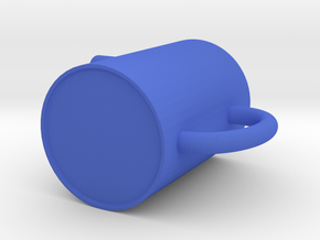 cup (cold) in Blue Processed Versatile Plastic: Small