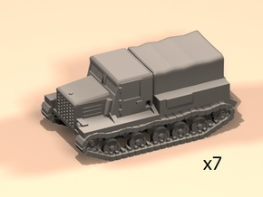 6mm Ya-12 artillery tractor x7 in Smoothest Fine Detail Plastic