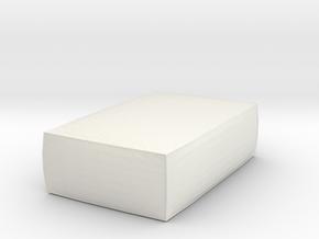 Miniature 1:24 Pouf  in White Natural Versatile Plastic: 1:24