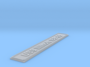Nameplate USS Illinois BB-65 in Smoothest Fine Detail Plastic