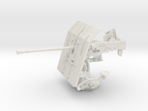 1/24 DKM 3.7cm Flak M42 Single Mount in White Natural Versatile Plastic