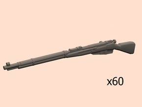 28mm Mosin rifle 60 pack in Smoothest Fine Detail Plastic