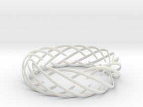 Voronoi Fashion Style Bracelet  in White Natural Versatile Plastic