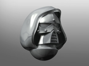 Chronos pattern Helmet (with hood) in Smooth Fine Detail Plastic