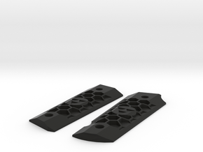 TriForce Honeycomb Grip Set for 1911 Airsoft GBB in Black Natural Versatile Plastic
