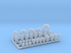 1:700 Scale US Navy Satcom Domes in Smooth Fine Detail Plastic