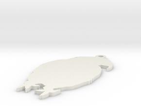 New Zealand kakapo in White Natural Versatile Plastic