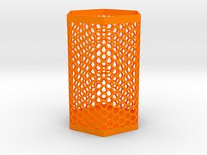 Pen holder in Orange Processed Versatile Plastic