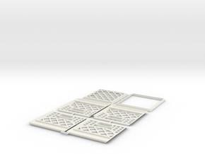 Milk Crate 1/18 Scale Kit in White Natural Versatile Plastic