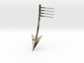 Broken Arrow: Part 1 of 2 in Rhodium Plated Brass