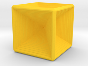 Infinity cube in Yellow Strong & Flexible Polished