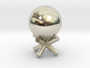 ball in 14k White Gold