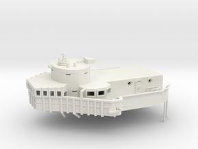 1/144 USS BB59 Command Bridge in White Natural Versatile Plastic
