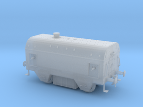 1/87th scale Armoured traincar, casemate in Smooth Fine Detail Plastic