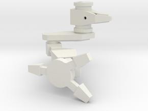 1/72 Mad Kitty Right Leg (part #6 for kit) in White Natural Versatile Plastic