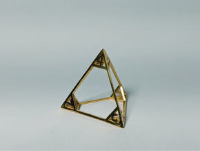 Air - d4 in 18k Gold Plated Brass
