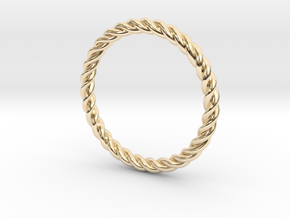 Ring Twisted US Size 7, 17.3 Mm in 14K Yellow Gold