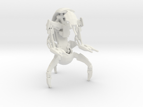 Printle Thing Droideka - 1/32 in White Natural Versatile Plastic