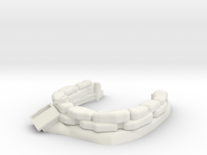 Sandbag Emplacement 1/56 in White Natural Versatile Plastic