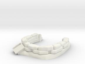 Sandbag Emplacement 1/35 in White Natural Versatile Plastic