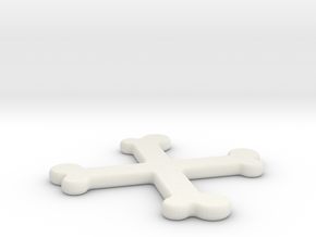 Headphone Cable Organizer 1 in White Natural Versatile Plastic