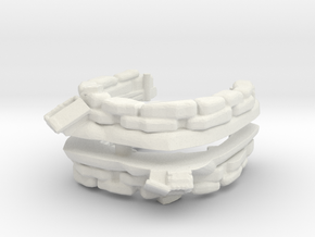 Sandbag Emplacement (x2) 1/144 in White Natural Versatile Plastic
