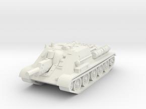 SU-122 Tank 1/72 in White Natural Versatile Plastic